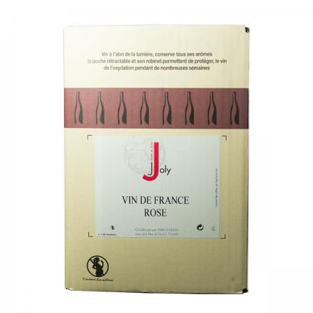 Vin de France Rosé 12° - Joly - BIB de 5 Litres